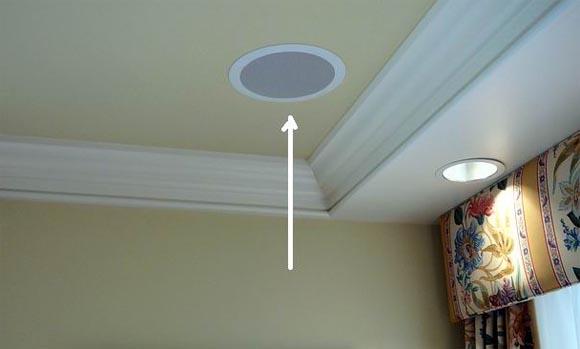 встроенная акустика в потолок